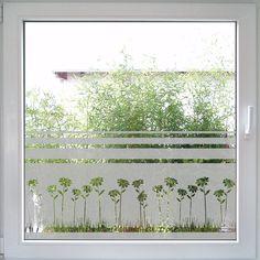 Field of Marguerites Windowtattoo Frosted Glass Design, Frosted Glass Window, Glass Door, Glass Art, Window Clings, Window Art, Window Film, Main Door Design, Window Design