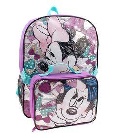 Look at this #zulilyfind! Purple Minnie Mouse Backpack & Lunch Box #zulilyfinds
