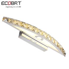 LED Indoor Wall Lamps , ECOBRT 10W Waterproof LED Bathroom Vanity Crystal Wall Light Mirror Light Fixtures For New Year 44cm long CE ROHS,High Quality light walls dark trim,China lighted tweezers with magnifier Suppliers,  from ECOBRT LED LIGHTING on Aliexpress.com