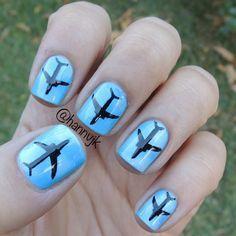 airplane nail art - Google Search