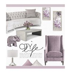 Lilac and Grey by zaycelik on Polyvore featuring polyvore interior interiors interior design home home decor interior decorating Haute House Safavieh Boho Boutique Allstate Floral Royal Velvet Pillow Perfect Home