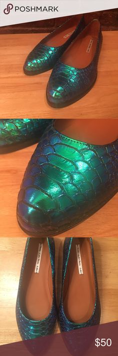 Iridescent faux snake flats by And Other Stories Iridescent faux snake flats by And Other Stories. Never worn like new condition. And Other Stories Shoes Flats & Loafers