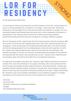 sample letter of recommendation for residency lor