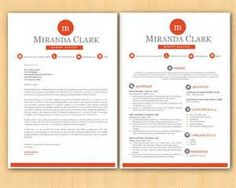 Red Frame Initials Bar Microsoft Word Resume    P By Inkpower