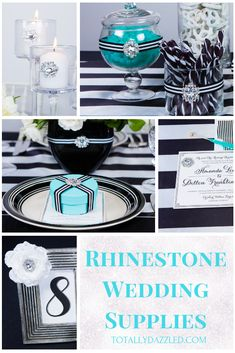 Check out this elegant black and white wedding theme. This article features tons of black and white wedding ideas and also incorporates pops of color and glam in the decorations, flowers, attire, and more. Black And White Wedding Theme, White Flower Arrangements, White Bridesmaid Dresses, Groom Attire, Wedding Planning, Wedding Ideas, Wedding Supplies, Accent Colors, Color Themes