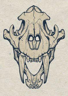 Sabre-toothed #tiger #skull https://teespring.com/sabre-toothed-tiger-tee-5091#pid=46&cid=2741&sid=front