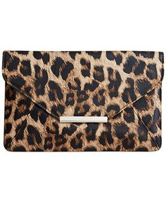 Style&co. Leopard Lily Envelope Clutch - Handbags & Accessories - Macy's