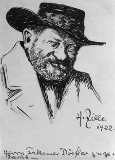 Selbstporträt Heinrich Zille