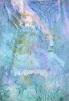 H. PFEIFFER Aquarelle 1931 Abstract Painting Bauhaus Tachisme Klee Bleu Akoun