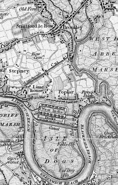 1801 Ordnance Survey Map including The Isle of Dogs, an area in the East End of London that is bounded on three sides (east, south and west) by one of the largest meanders in the River Thames.Where Lucas met his master Lord Raphael London Map, Old London, East London, Old Maps Of London, Vintage Maps, Antique Maps, The River, A Darker Shade Of Magic, Ordnance Survey Maps