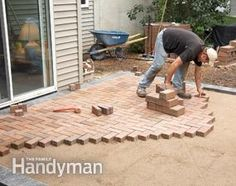 How to cover a concrete patio with pavers...need to get rid of the pebbles currently on our patio