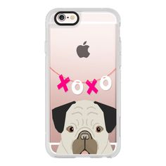 iPhone 6 Plus/6/5/5s/5c Case - Valentines day gift idea for pug owner... ($40) ❤ liked on Polyvore featuring accessories, tech accessories, iphone case, iphone hard cases, iphone cover case, apple iphone cases and iphone cell phone cases