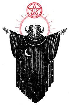 "Image of ""Ace of Pentacles"" Watercolor Print Dark Art Drawings, Cool Drawings, Tattoo Drawings, Occult Tattoo, Occult Art, Ace Of Pentacles, Satanic Art, Arte Obscura, Macabre Art"