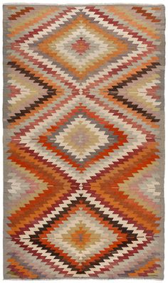 Vintage Moroccan Rug, would look really great underneath our dining table.