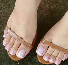 Pretty Toe Nails, Sexy Nails, Sexy Toes, Pretty Toes, French Tip Toes, French Toe Nails, White Toenails, Acrylic Toes, Nice Toes