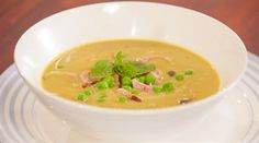 Try this Pea and Ham Soup recipe by Chef Justine Schofield . This recipe is from the show Everyday Gourmet.