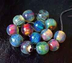 °° AS THEY CAME °° lots of silverglasses lampwork beads by jasmin french