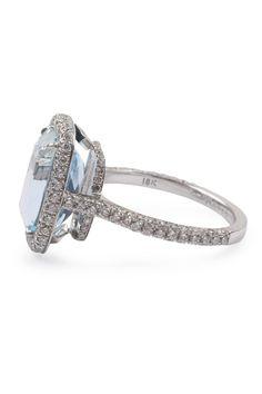 Custom Made Oster 4.20ct Aquamarine Pave Ring   Oster Jewelers #MyBridalStyle #MyDiamondStyle