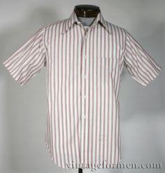 Vintage 60s Gant Striped Short Sleeve Shirt