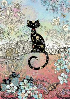 bug art Patterned Cat greeting cards Tap the link for an awesome selection cat and kitten products for your feline companion! Image Chat, Bug Art, Cat Cards, Greeting Cards, Cat Wallpaper, Wallpaper Wallpapers, Cat Drawing, Oeuvre D'art, Animal Drawings