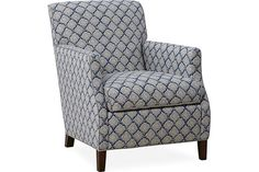7/10/14 1853-01 CHAIR OVERALL W26D34H32 INSIDE W20D22H16  SEAT HT 18 ARM HT 24  Showroom sample has example of whipstitch detail at arms - very attractive - MJ found comfortable but slightly hard to get our of - may be on account of seat cushion
