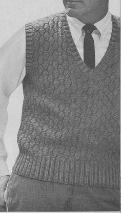 f9cd2c993d0 PDF Men s Pullover Vest Knitting Pattern