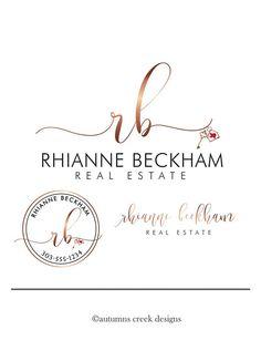 Real Estate Business Cards, Real Estate Flyers, Real Estate Marketing, Beckham, Logan, Real Estate Forms, Real Estate Logo Design, Modern Script Font, Email Signatures