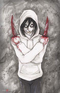Jeff el asesino cartel Creepypasta imprimir por Chris Oz