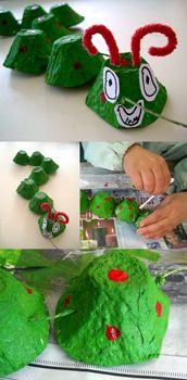 """craft idea for all those egg cartons I save for """"crafts someday"""""""