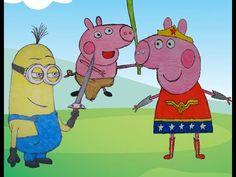 Super Compilação de Desenho Peppa Pig Mulher Maravilha - George Tarzin P..