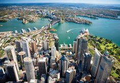 Aerial Photos - Sydney Australia - Skyscraper Page Forum Sydney Metro, City Architecture, Big Project, Sydney Australia, San Francisco Skyline, Landscape Photography, Caribbean, Skyscraper, City Photo