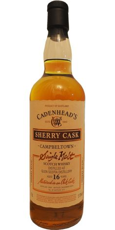 Glen Scotia 16 Year Old Cadenhead Single Malt Scotch Whiskey
