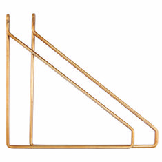 brass shelf supports by all things brighton beautiful   notonthehighstreet.com