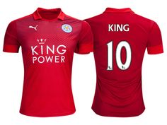 Leicester City #10 Andy King 2016-17 Road Short Shirt
