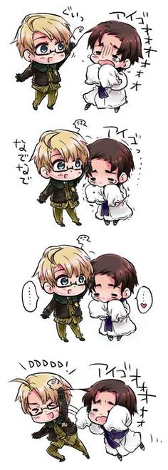 America and Korea...cuteness overload!!! ^__^  #Hetalia