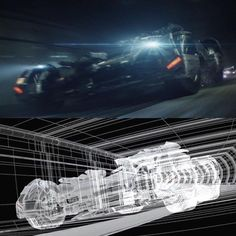 3D wireframe bat mobile