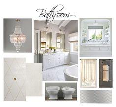 Bathroom by veryvlada on Polyvore featuring interior, interiors, interior design, дом, home decor, interior decorating, Fine Art Lamps and bathroom