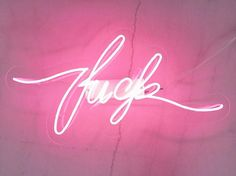 Neon sign f-word  fck handmade neon light by sygns on Etsy