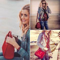 Red RACHEL perfect at all times. http://www.virtucugat.com/es/bolsos/rachel-mini-bowling #trend #style #redbag #virtucugatbags #VirtuCugat #limitededition #luxury #luxurybag #luxuryshopping