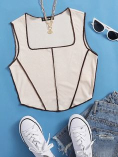 Diy Summer Clothes, Summer Outfits, Knitwear Fashion, Western Outfits, Cute Casual Outfits, Cami Tops, Fashion News, Spandex Fabric, Men's Clothing