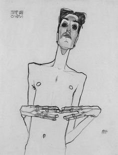 mime van osen, egon schiele 1910 #mastering #composition #drawing #painting #photography http://www.ipoxstudios.com/canon-of-design/