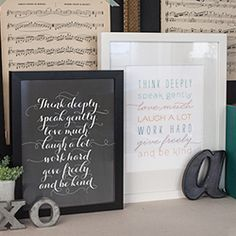 DIY home decor that is inexpensive and easy to make. Download and print this quote against a chalkboard background.
