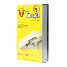 Victor® TIN CAT® Mouse Trap - A live trap that allows you to catch & release mice without having to touch them! Catches up to 30 mice. Can be disposable or reusable, whichever you choose! Ideal rodent control solution. #mice