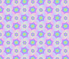 Salted_Star_Rainbow fabric by karwilbedesigns on Spoonflower - custom fabric