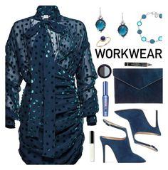 """WORKWEAR"" by deborah-calton ❤ liked on Polyvore featuring Giuseppe Zanotti, Magda Butrym, Rebecca Minkoff, Anzie, Gloria Vanderbilt, Benefit, L'Oréal Paris, Real Purity and Bobbi Brown Cosmetics"