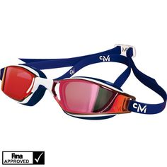 MP Michael Phelps XCEED Limited Edition Red/White.Blue Goggles!