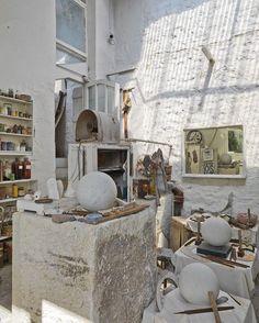 "abacastore: ""Barbara Hepworth's Studio #workspaces #abacainspiration """