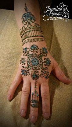 snowflake henna mandala www.jamilahhennacreations.com