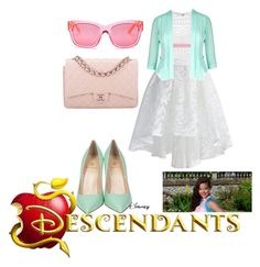 """descendants"" by maria-look on Polyvore featuring Chicwish, Ally Fashion, City Chic, Semilla, Chanel, Kate Spade and Disney"