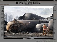 LAC MEGANTIC - The deadly weekend explosion of a runaway crude-carrying train in Quebec threatens to ratchet up scrutiny of rising crude-by-rail shipments on both sides of the U.S.-Canada border, amid a boom in North American oil production. http://online.wsj.com/article/SB10001424127887324867904578591932401897430.html?mod=WSJ_hps_LEFTTopStories